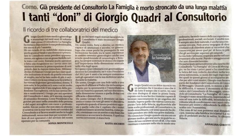 Ricordiamo il nostro amato Giorgio