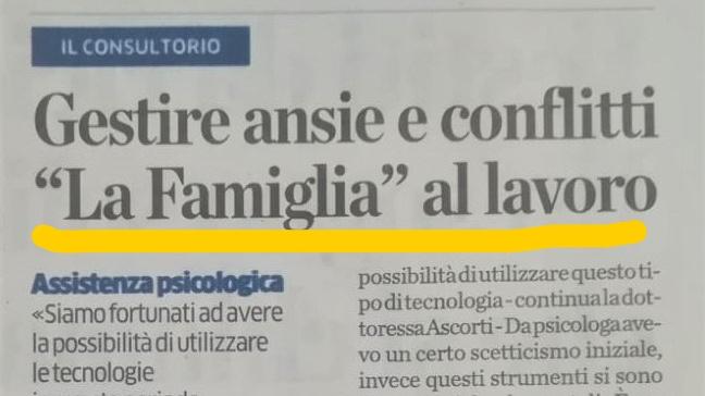 """""""La Famiglia"""" al lavoro"""